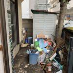 お庭の遺品整理(生前整理)残置処分、作業前