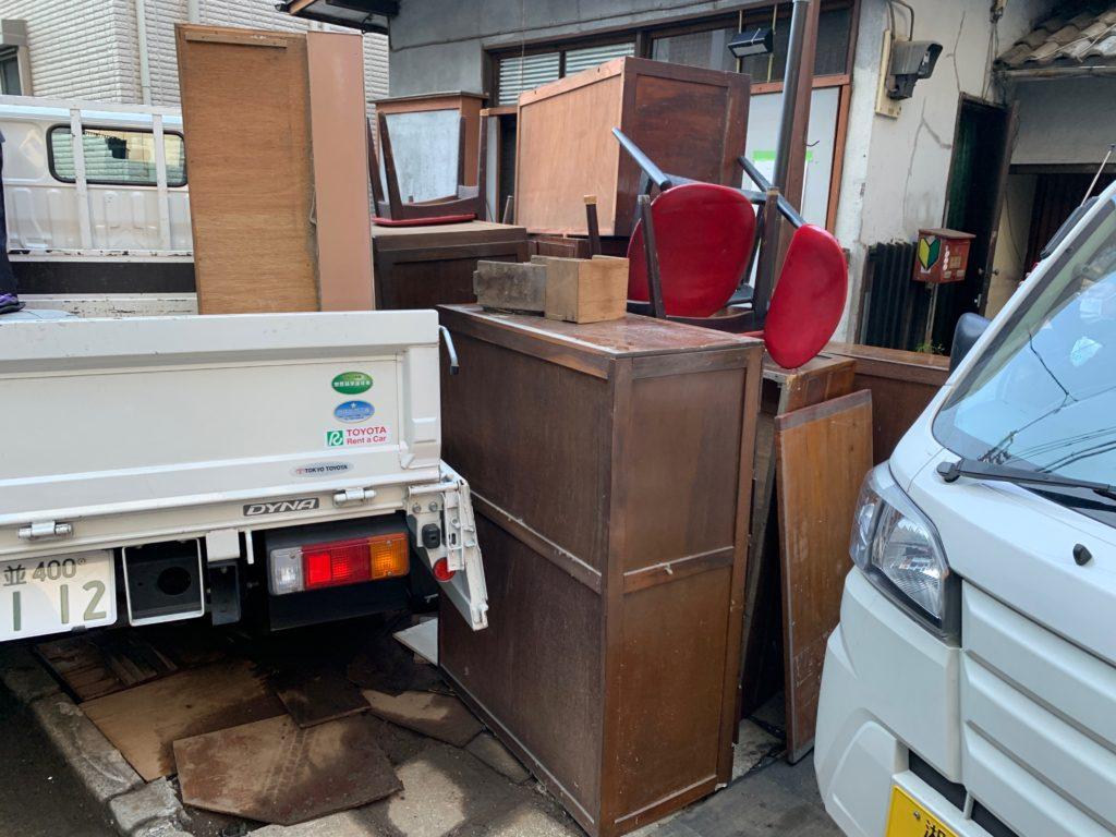 家具や大きな物の遺品整理の写真(渋谷区)2