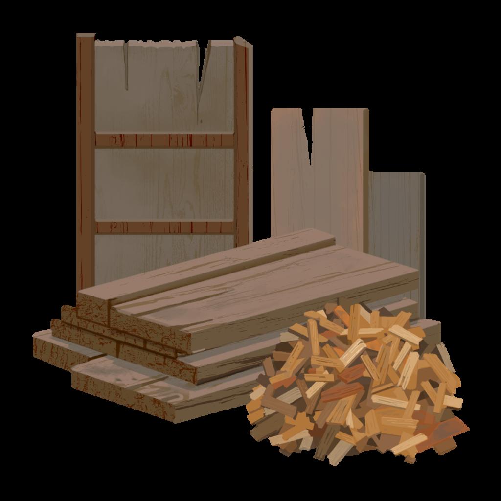 木材、家具の絵