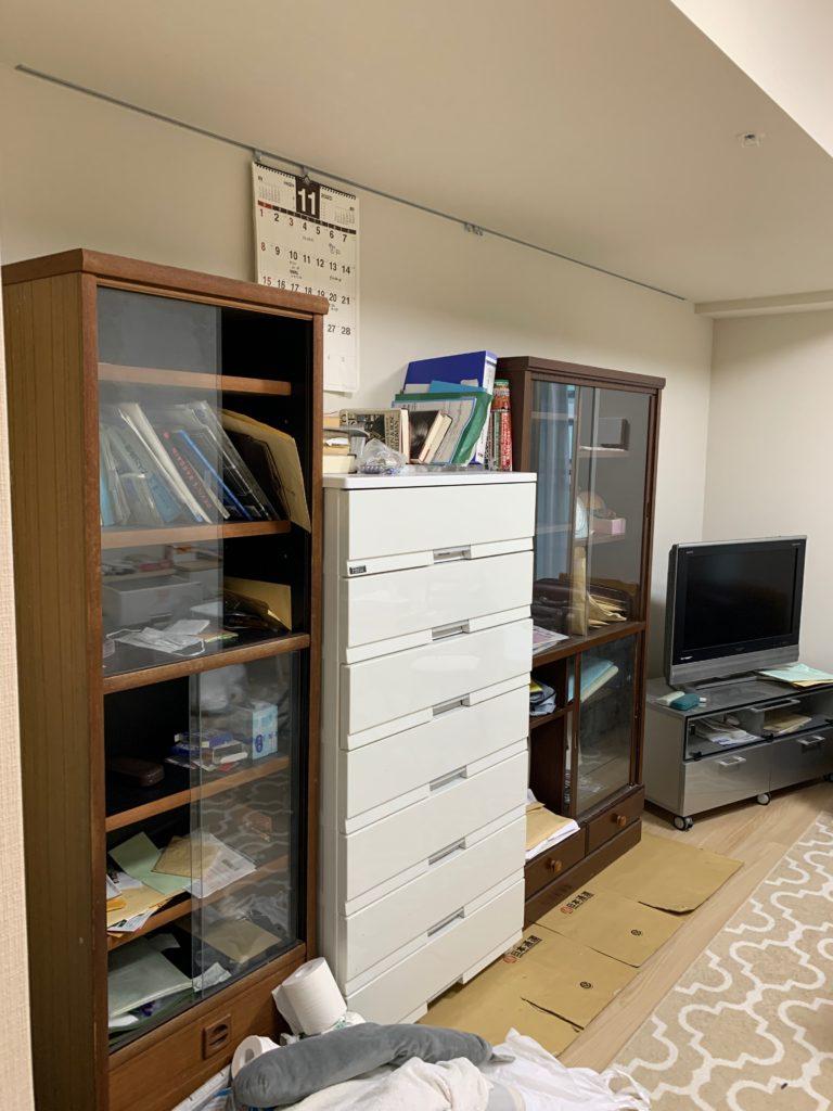 渋谷区の1Kのお部屋の遺品整理の残置物処分前の写真2