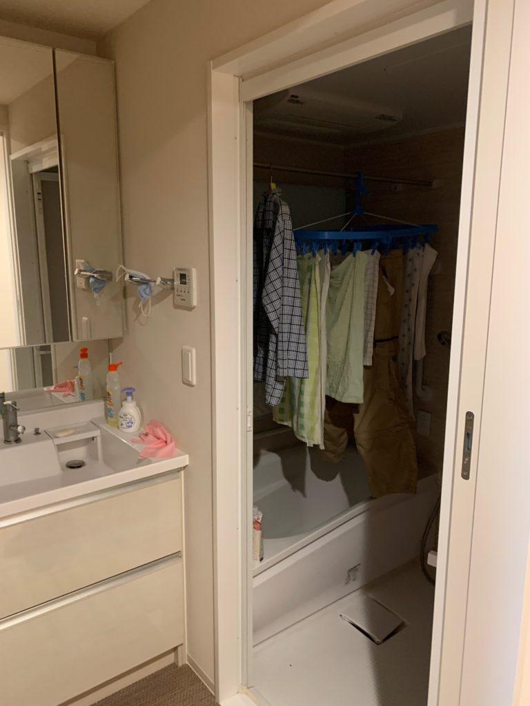 渋谷区の1Kのお部屋の遺品整理の残置物処分前の写真1