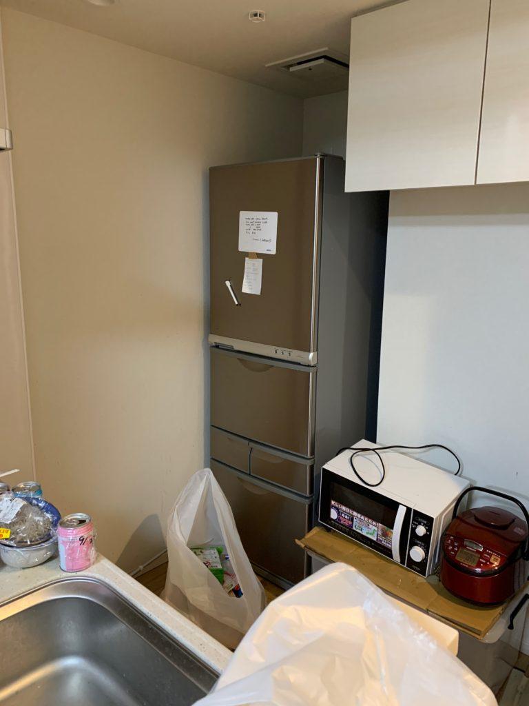 渋谷区の1Kのお部屋の遺品整理の残置物処分前の写真3