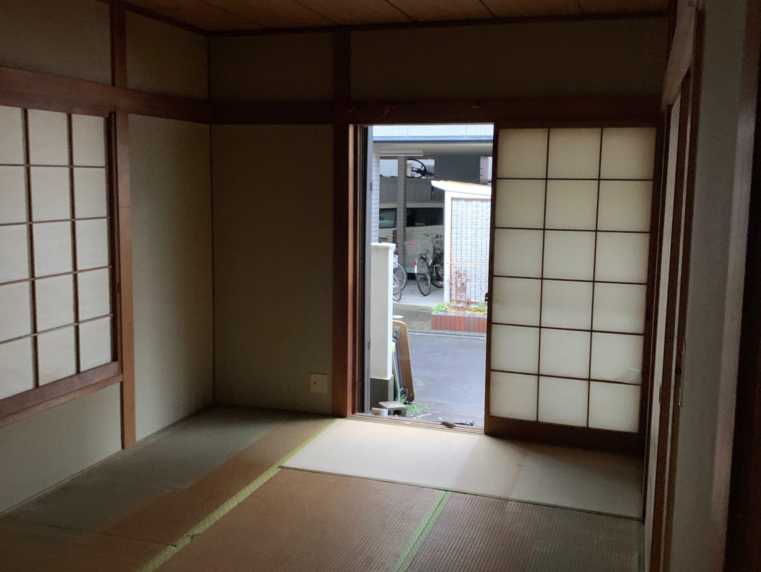 遺品整理後の写真(一階居間)品川区