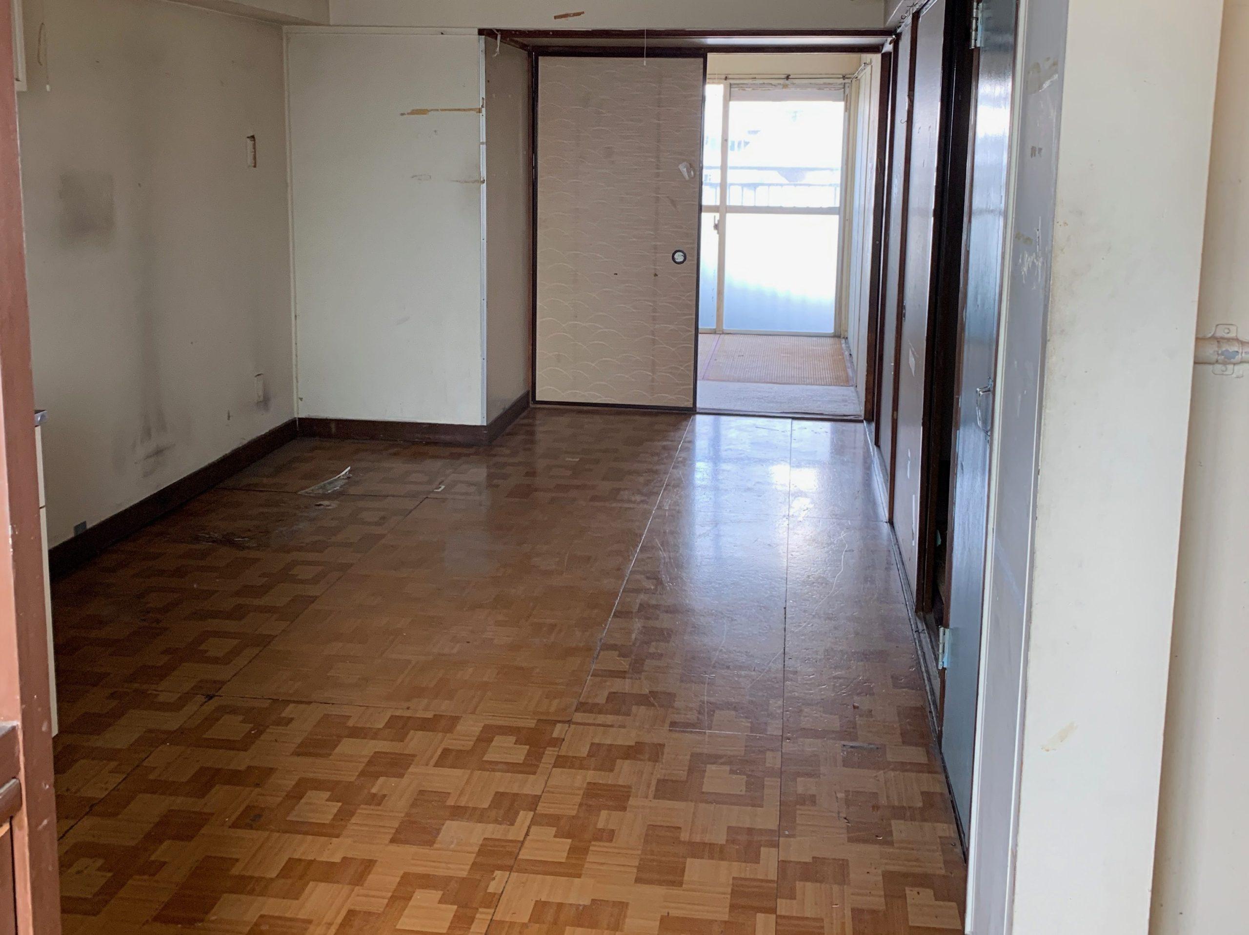 都営住宅の生前整理(遺品整理)後の写真(玄関)目黒区