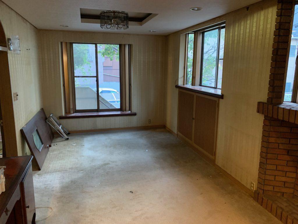 三階建一軒家の遺品整理後の写真(二階部屋2)港区
